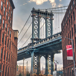 Straatje Manhattan Bridge