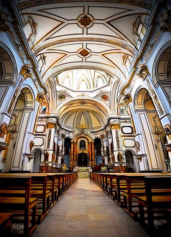 """Iglesia Altea  - Gevalletje experimentele bewerking... <img  src=""""/images/smileys/smile-big.png""""/><br /> <br /> Bij het interieur van deze klassieke"""
