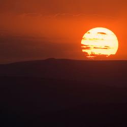 Zonsondergang in Zuid Afrika