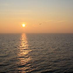 Zonsopkomst boven Waddenzee