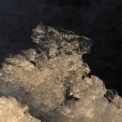 ijskristallen op het wad bij Ameland