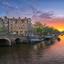 Zonsondergang aan de Papiermolensluit in Amsterdam