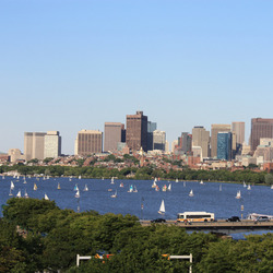 Uitzicht over de Charles River, Boston