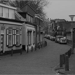 dorpsstraat zwart wit Canon 650D test.