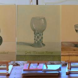 Oud glaswerk gemaakt naar idee van Henk Helmantel