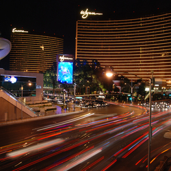 Nightly Las Vegas traffic