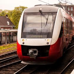 Trein in station Hengelo