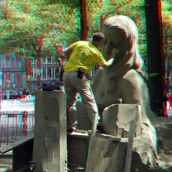 zand sculptures Lange Voorhout 3D