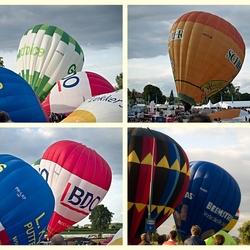 De ballonnen komen overeind.