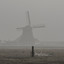 In de mist