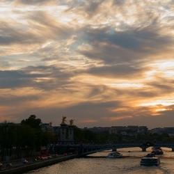 late summer Paris sky