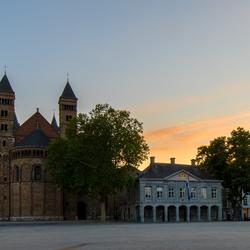 Verlaten Vrijthof in Maastricht