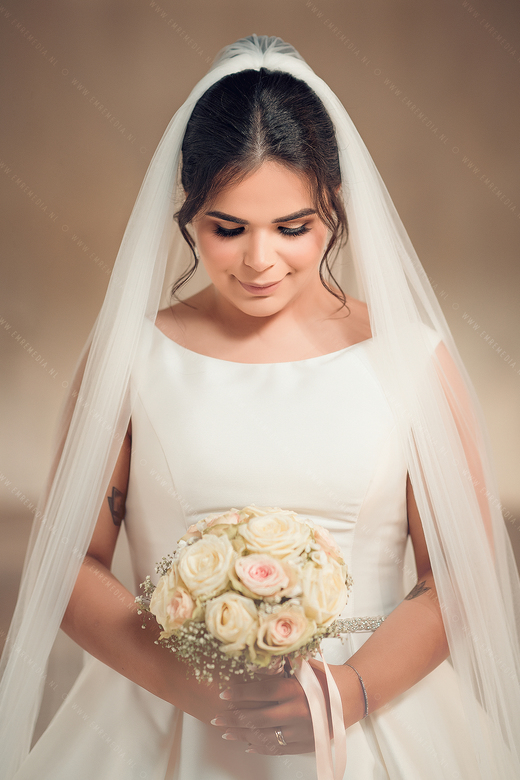 Bride with her bouquet  -