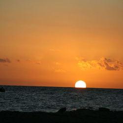 Zon onder in Curacao