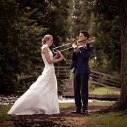 Bruiloft na ontmoeting op muziekschool