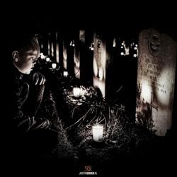 Lichtjes op oorlogsgraven Texel.