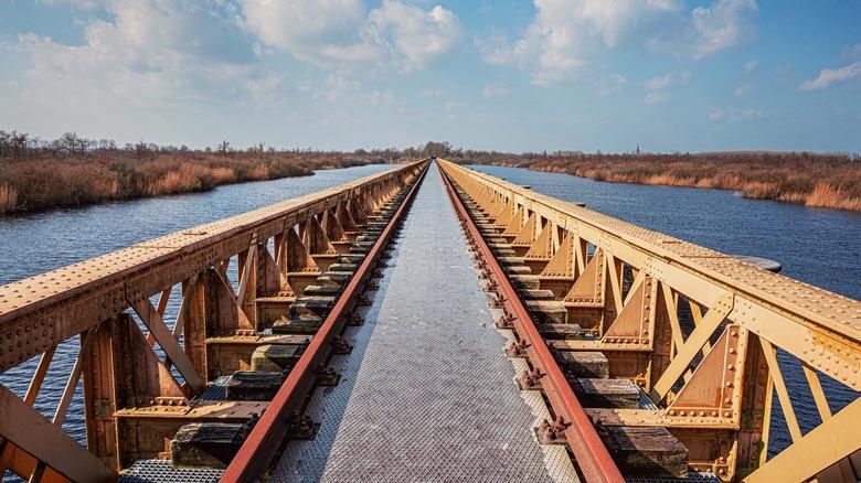De brug - Wat heerlijk dat vanmorgen de zon scheen en dat er heerlijke Hollandse luchten waren. Dat nodigde uit om weer eens een lekkere wandeling te