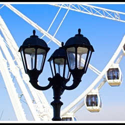 The lantern on the pier ...