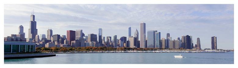 Skyline Chicago - Chicago heeft een imposante skyline met veel wolkenkrabbers.