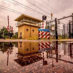 Railroadhouse reflection
