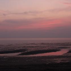 strand in avondlicht