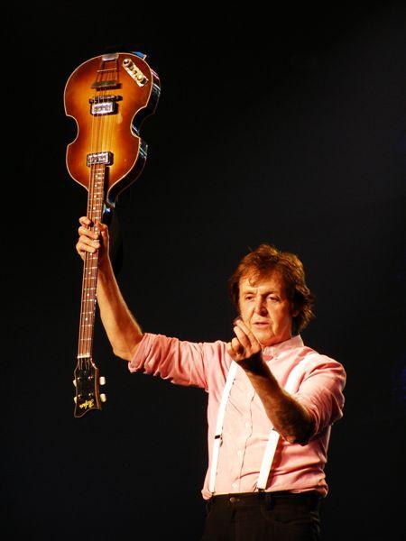 Paul McCartney@Arnhem 2009 - Sir McCartney voor de lens, wauw!