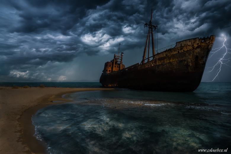 Ghost ship Greece