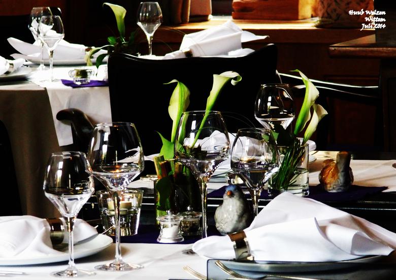 Mechelen 2014 08kopie - Gedekte tafels in Kasteel Wittem