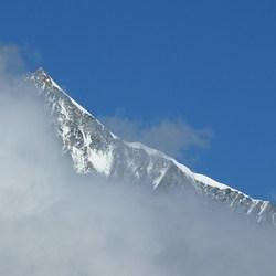 Weisshorn 4506m vanaf Sunnegga boven Zermatt