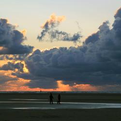 Texel bij zonsondergang