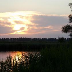 Zonsondergang in Zeeuws-Vlaanderen