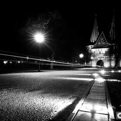 Nacht in het stadspark van Kampen