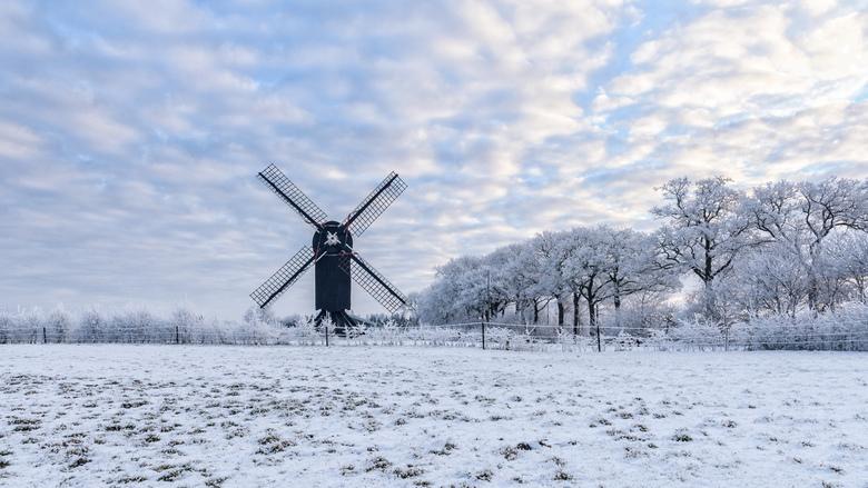 Wintertime ** - De standerdmolen in Ter Haar in een winterse sfeer.