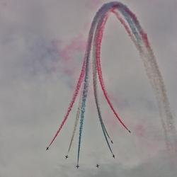 Red Arrows in actie