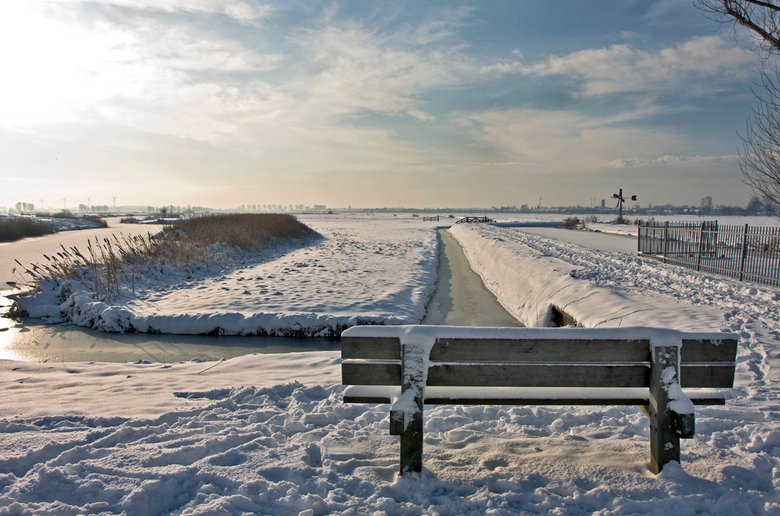 Winter in Spaarndan - Dec.2010 hekslootpolder bij spaarndan