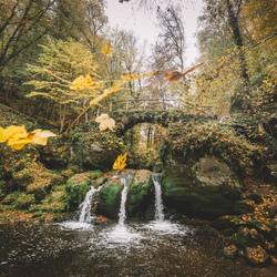 Autumn cascade.