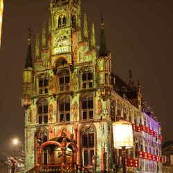 stadhuis gouda, verlicht