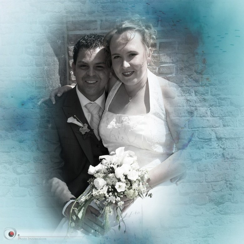 shining blue - opdrachtje , bewerking trouwfoto<br /> eigenfotografie en bewerking