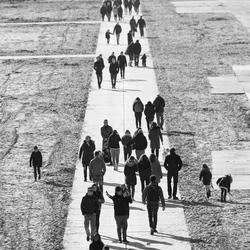 Flaneren op het strand van Scheveningen