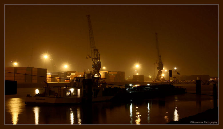Rotterdamse Haven @ night - Haven, Rotterdam, @ night