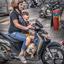 Op de scooter
