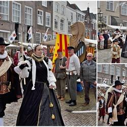 Aankomst van Willem van Oranje en Anna van Buren bij de Markt in Grave.