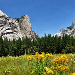 El Capitan en Half Dome in Yosemite NP