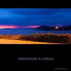 Rainshower in Corsica