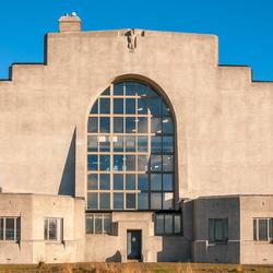 Radio Kootwijk aan de achterzijde