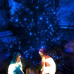 Kerststal licht effect