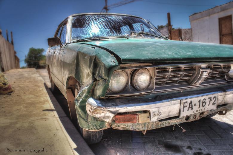 Broken down - Auto in de straten van San Pedro de Atacama (Chili)