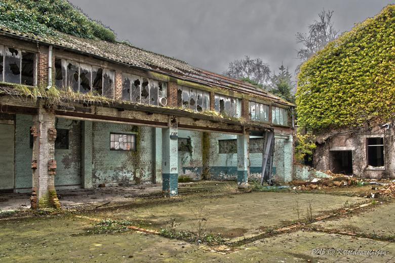 verval - binnenplaats vervallen gebouw