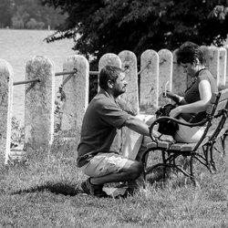 Man en vrouw bij Tatameer in Hongarije