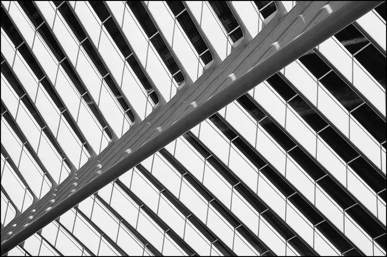 Artistieke architectuur 32 - Lijnenspel in combinatie met contrasten en zwart wit geven je plaat een zekere kracht en dynamiek mee. Vandaar dat velen